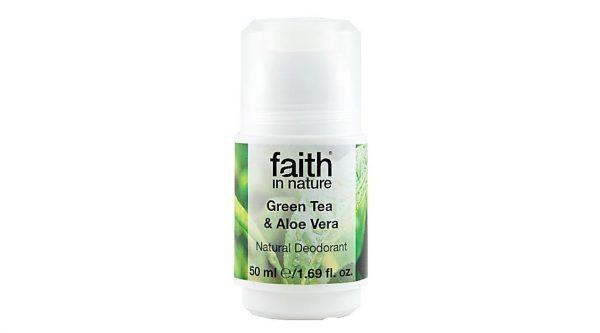 Tea tree and aloe vera deodorant Faith in Nature
